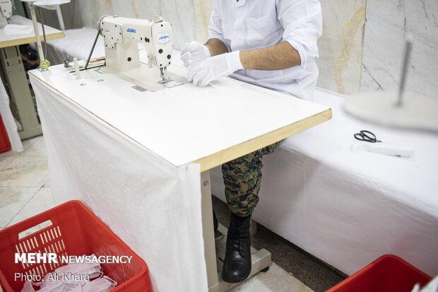 Law Enforcement Force establishes face mask, disinfectant production line