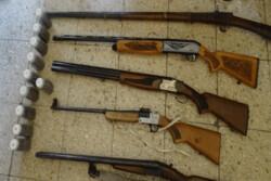 ۲۳ قبضه سلاح از شکارچیان متخلف در پارس آباد کشف شد