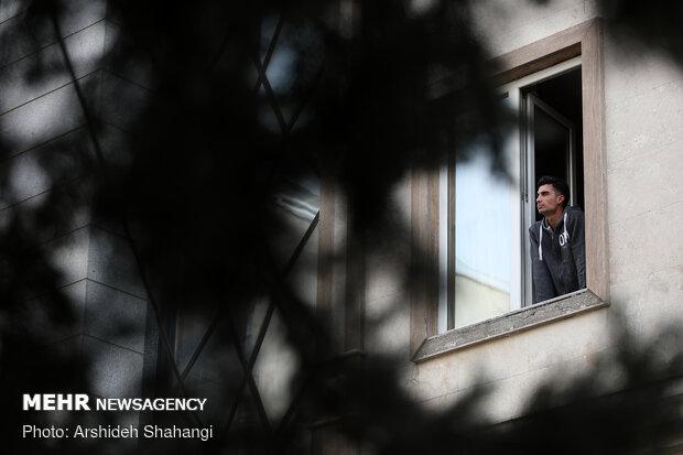 People imposing self-quarantine to contain the virus