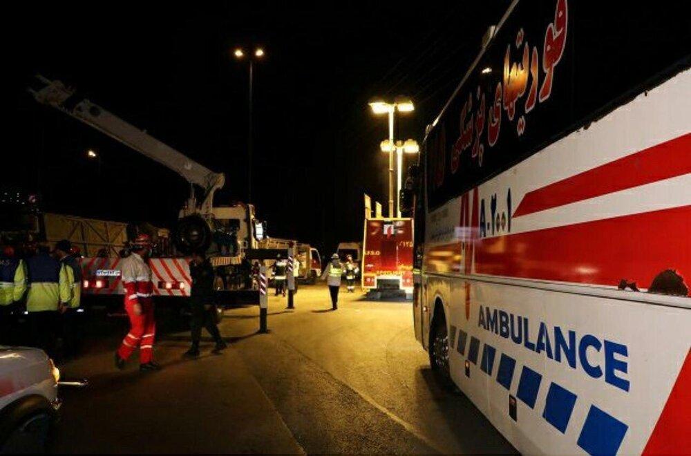 یک دستگاه اتوبوس در مهماندوست دامغان واژگون شد