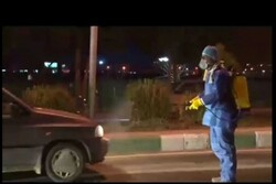 VIDEO: Disinfecting passing cars against COVID-19 in Sabzevar