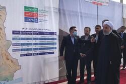 روحاني يفتتح الطريق السريع بين طهران وكرج