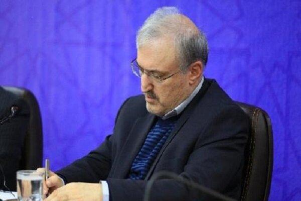 وزير الصحة يشيد بجهود وزير الداخلية الايراني في تنفيذ مشروع التباعد الاجتماعي
