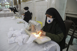 Workshop for producing face mask in Ahvaz