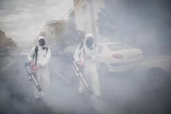 İran'da caddeler dezenfekte ediliyor