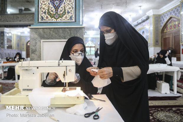 Workshop for producing face mask in Ahvaz