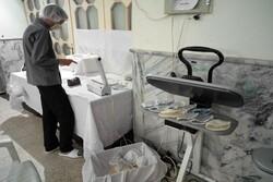 VIDEO: Workshop producing face masks in Mashhad 24/7