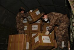 Chinese Army delivers anti-corona aid to Iranian armed forces