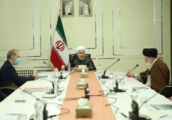 President Hassan Rouhani, Majlis Speaker Ali Larijani and Judiciary Chief Hojjatoleslam Ebrahim Raeisi