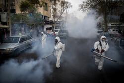 تہران کے نازی آباد محلہ میں اسپرے کی مہم جاری