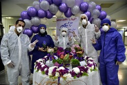 Moment of entering New Year in hospital in Golestan province