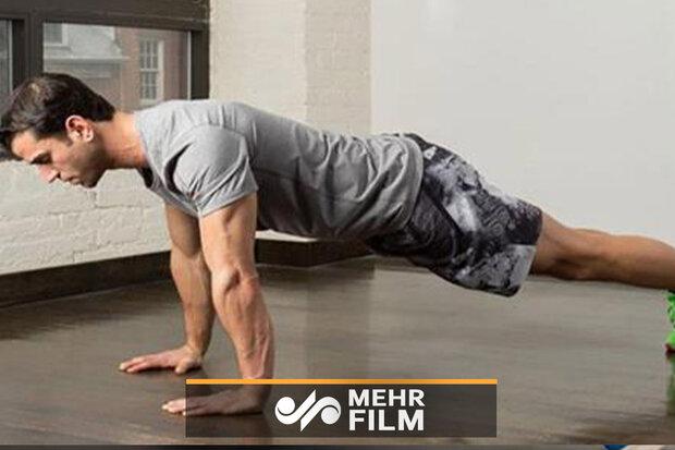 آموزش حرکات ورزشی برای تقویت عضلات سینه