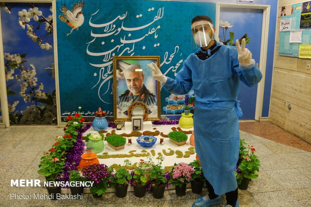 Volunteer forces in Qom hospitals on eve of New Year