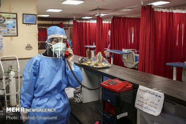 تحویل سال نو در بخش کرونای بیمارستان بعثت