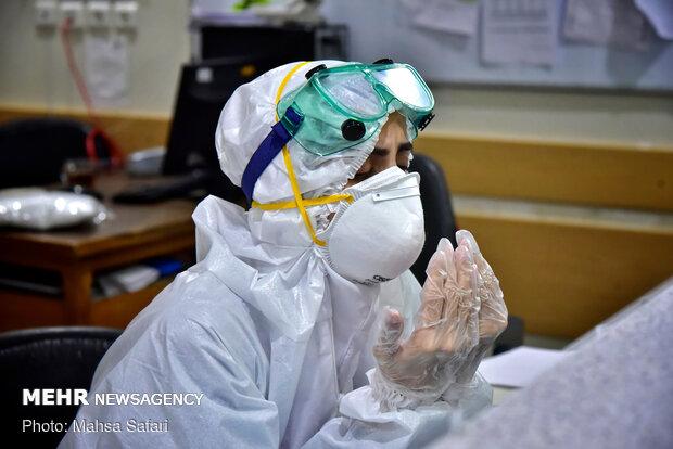 لحظات تحويل السنة الايرانية الجديدة في مستشفى مع الاطباء والممرضين