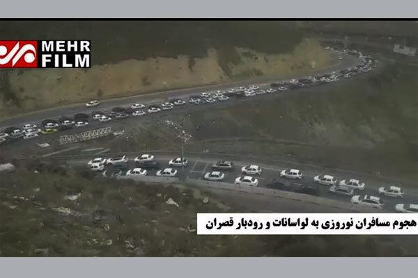 صف خودروها در مسیر لواسان/ کرونا در تهران جدی گرفته نشده است