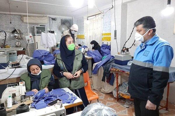 ۱۳۰ کارگاه تولید ماسک در محلات نکا راه اندازی شده است