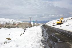 بارش برف بهاری ارتفاعات ارمغانخانه را سفید پوش کرد