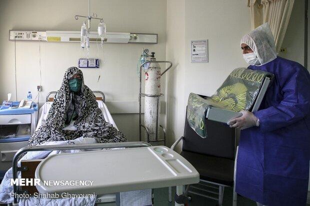 Goodwill ambassadors of Imam Reza (PBUH) visit coronavirus patients in Tehran's Milad…