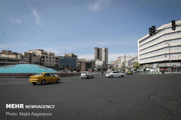 معابر اصلی مرکز شهر تهران در روز 5 فروردین 99