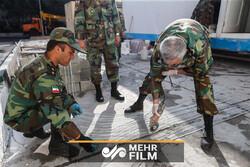 ایرانی فوج نے تہران میں 2000 تختوں پر مشتمل موبائل اسپتال قائم کردیا