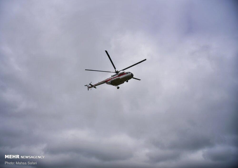 گشت هوایی هلال احمر گلستان