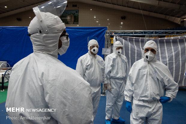 Army's 200-bed convalescent center for coronavirus patients in Shiraz