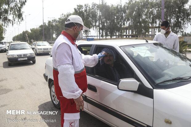 غربالگری بیشاز ۴۴۴ هزار نفر در ورودی شهرهای سیستان و بلوچستان