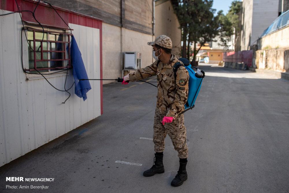 نقاهتگاه ۲۰۰ تختخوابی ارتش برای بیماران کرونایی در شیراز