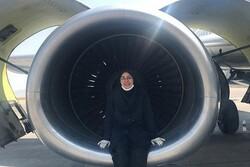 بانوی چادری؛ تنها زنِ مهندس تعمیرات هواپیما در ایران