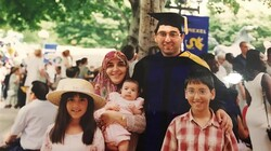 Image shows Sirous Asghari at his graduation from Philadelphia's Drexel University in 1997. (Photo via the Guardian)