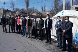 ایستگاه غربالگری تست کرونا در ورودی شهر لاهرود استقرار یافت