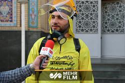 تولید ماسک و شیلد پزشکی در مسجد