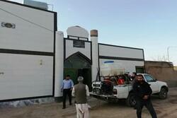 ضدعفونی مسجد اهل سنت توسط بسیجیان