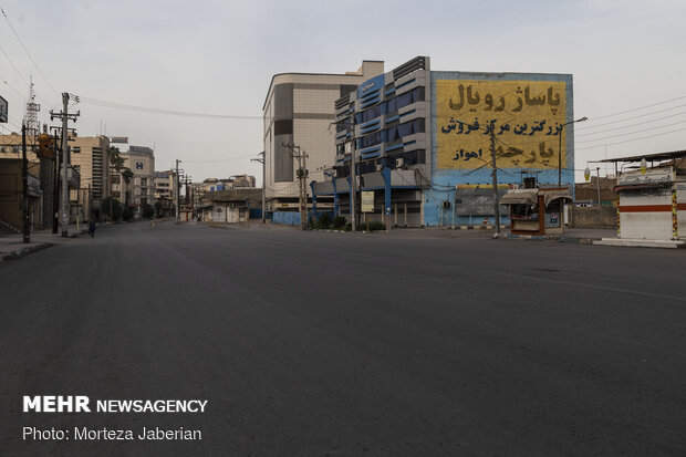 Streets in Ahvaz deserted under Covid-19 outbreak