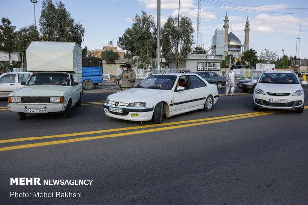 اجرای طرح محدودیت تردد در عوارضی قم - تهران