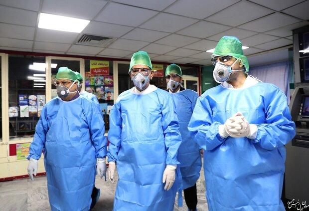 جهانغيري يتفقد مرضى كورونا في مشفى الإمام الحسين (ع)