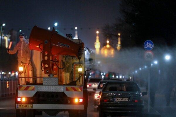 VIDEO: Disinfecting public places in Mashhad against COVID-19