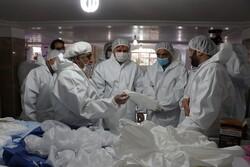 تولید روزانه بیش از ۶۰۰ دست لباس ایزوله در شهرستان صومعه سرا