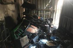 یک باب مغازه در قزوین دچار حریق شد