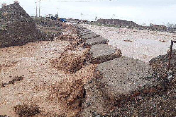 چند محور روستایی در تایباد مسدود شد