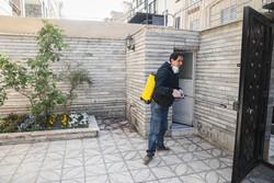 تہران کے مشرقی علاقہ کے ٹرمینل اور گھروں میں اسپرے کی مہم جاری