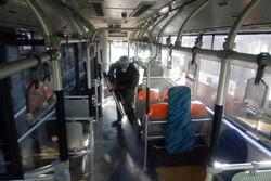 عملیات ضد عفونی کردن ناوگان اتوبوسرانی پایتخت دارد