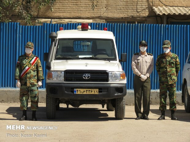 Army's convalescent center for COVID-19 patients in Ahvaz