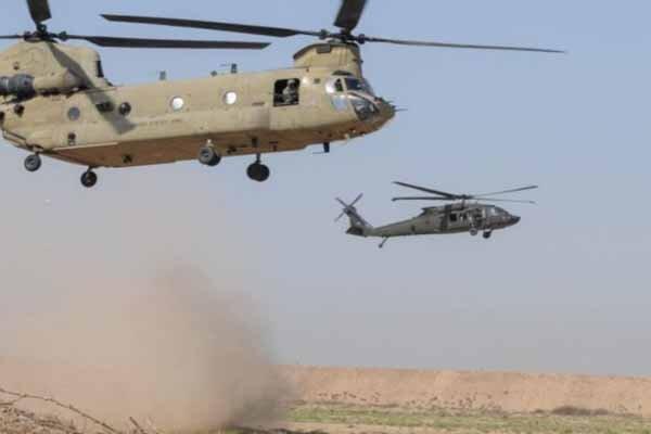 پرواز  بالگردهای آمریکایی بر فراز دیالی عراق