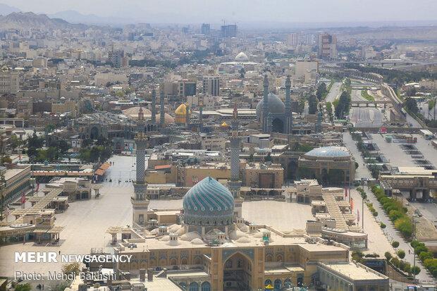 تصاویر هوایی شهر قم در روز طبیعت