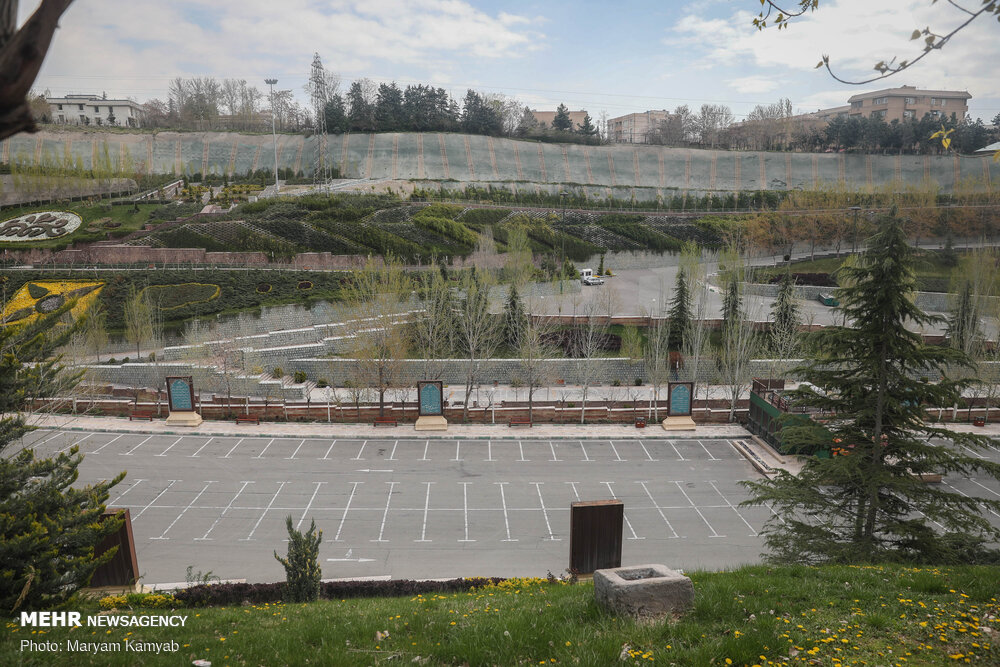 سکوت پارک های تهران در سیزده فروردین ۹۹