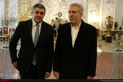 Secretary General of the World Tourism Organization Zurab Pololikashvili and Iran's tourism chief Ali-Asghar Mounesan visiting Tehran's Golestan Palace on Nov. 12, 2018 / Photo by ILNA