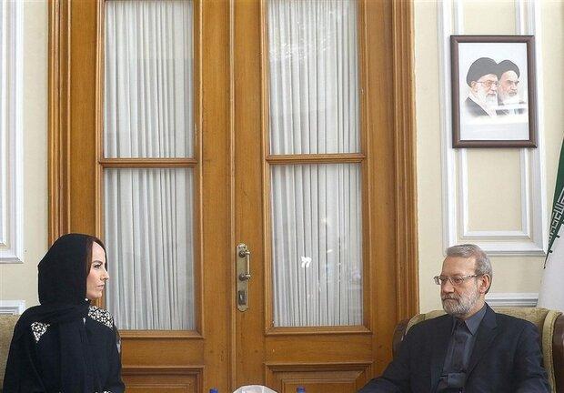 رئيسة الإتحاد البرلماني الدولي وكل من رؤساء البرلمان الروسي والسوري يتمنون الشفاء للاريجاني