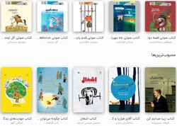 This combination photo shows a number of IIDCYA publications available on Taaghcheh.